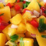 Salsa de mango y arándanos