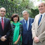 Rudy El Azzi, Lihn Lan Le, embajadora de Vietnam; Petros Panayotopoulos, embajador de Grecia, y Mark Mcguiness