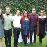 Fernanda Arenas, David Daza, Jorge Espinosa, Brenda Espín, Otto de la O, Alondra Escamilla y Myriam Patiño