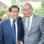 Beeho Chun, embajador de la República de Corea, y Supradip Chakma, embajador de Bangladesh