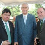 Eduardo José de Atienza, embajador de Filipinas; Pedro Núñez Mosquera, embajador de Cuba, y Eduard Malayan, embajador de la Federación de Rusia