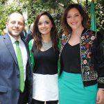 Armando Carballo, Fabiola Madera y Gabriela Cueva