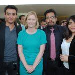 Robin Ramírez, Sonja Ann Hyland, embajadora de Irlanda; Moisés Ferrer y Paulina Valentino