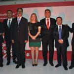 Directivos de Scotiabank en México: Enrique Margaín, Salvador Espinosa, Alejandro del Bosque, Lucía Pérez, Héctor Pérez, Pepe Esquinca y Fernando Rodríguez