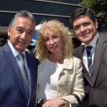 Raúl Chi, Wendy Coss y Oscar Ignorosa