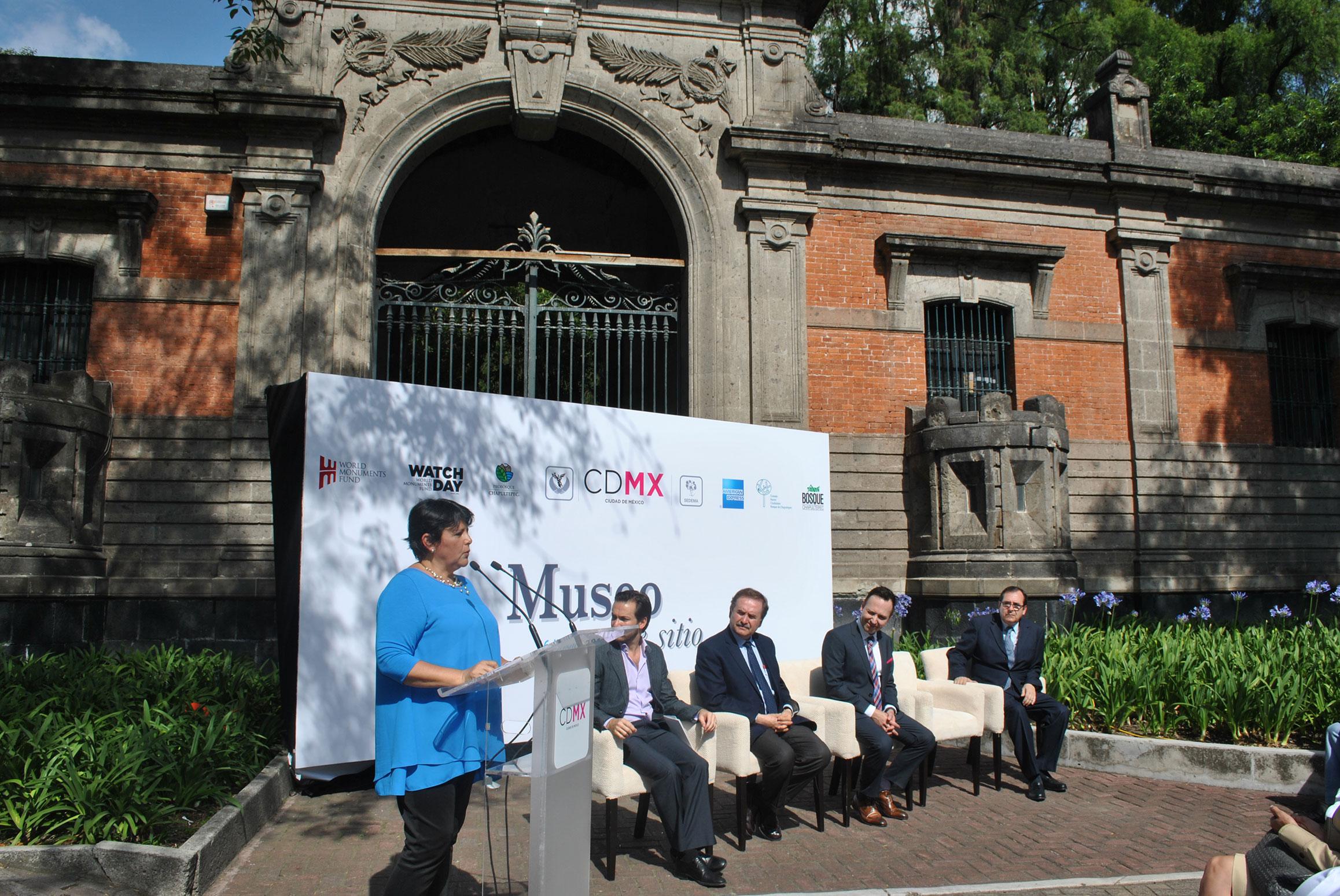 Rosa María Gómez Sosa, Joaquín Vargas Mier y Terán, Marcos Mazari, Jorge Guevara y Gabriel Mérigo Basurto hicieron el anuncio oficial de la próxima apertura del Museo de Sitio