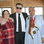 Marcela Matos, Guillermo Rebolledo y Ahmed Mulay Ali Hamadi, encargado de Negocios A. I. de la República Árabe Saharaui en México