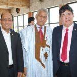 Mohammad Azhar Bin Mazlan, embajador de Malasia; Ahmed Mulay Ali Hamadi, encargado de Negocios A. I. de la República Árabe Saharaui en México, y Eduardo José Atienza de Vega, embajador de Filipinas