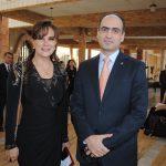 Verónica Alfaro y Rudy El Azzi, encargado de Negocios A. I. de la Embajada de Líbano en México