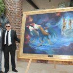 Invitados especiales develando la nueva colección de obra de arte de Guillermo Rebolledo: Jean Louis Bigna, príncipe de Camerún refugiado en México