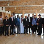 Políticos, diplomáticos acreditados en México e invitados especiales con Guillermo Rebolledo (lentes oscuros)