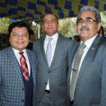 Mauricio Peñate, Kaled Banisalman y Alfredo Salvador Pineda Saca, embajador de El Salvador. Revista Protocolo Copyright©