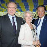 Ruslan Spírin, embajador de Ucrania; Merethe Nergaard, embajadora de Noruega, y Andrian Yelemessov, embajador de Kazajstán. Revista Protocolo Copyright©