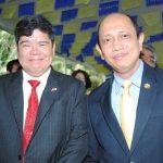 Eduardo José Atienza de Vega, embajador de Filipinas, y Mohammad Azhar bin Mazlan, embajador de Malasia. Revista Protocolo Copyright©