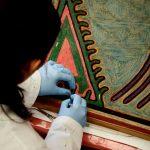 Restauran importante tabla de artista huichol
