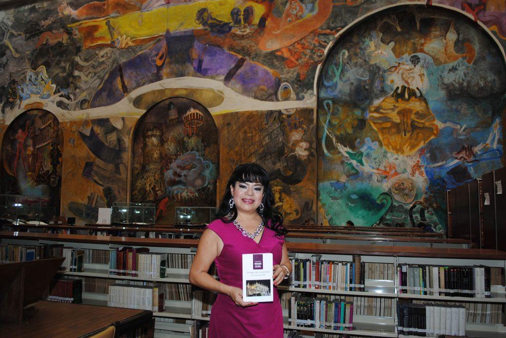 Leticia Sánchez Medel, autora del libro Testigos del Cervantino. Foto: Revista Protocolo Copyright©
