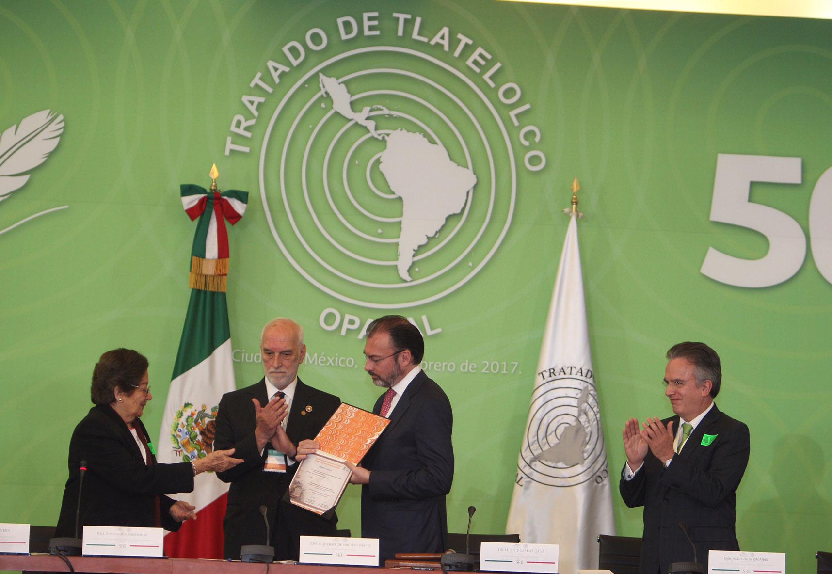 Conmemoración del 50 aniversario del Tratado de Tlatelolco