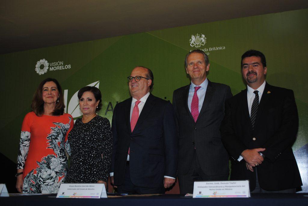 Martha Garcíarivas, Rosario Robles Berlanga, Graco Ramírez Duncan Taylor y Leonardo Beltrán. Foto: Revista Protocolo Copyright