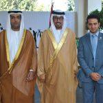 Abdulla Mohammed Al Suwaidi, Ahmed Hatem Al Menhali, embajador de los Emiratos Árabes Unidos, y Ali Wali