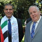 Abdulkarim Mansoor Obeidat, embajador de Jordania, y Manuel Ricardo Pérez Fernández, embajador de Panamá