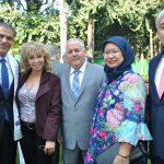 Abdulkarim Mansoor Obeidat, embajador de Jordania; Wendy Coss, Manuel Ricardo Pérez Fernández, embajador de Panamá; Febby Fahrani, y Oliver Darien del Cid, embajador de Belice