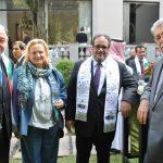 Eduard Malayan, embajador de la Federación de Rusia; Eva Hager, embajadora de Austria; Hammad G. M. Al Rowaili, embajador de Arabia Saudita, y Petros Panayotopoulos, embajador de Grecia