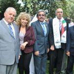 Manuel Ricardo Pérez Fernández, embajador de Panamá; Wendy Coss, Alfredo Salvador Pineda Saca, embajador de El Salvador; Rabah Hadid, embajador de Argelia, y Muktesh Kumar Pardeshi, embajador de la India