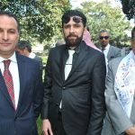 Hisham Al Jeborri, Zaid Al Safi y Muftah R. M. Altayar, embajador de Libia