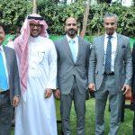 Mauricio Peñate, Rakan Al Saadoon, Ahmal Al Shammari, Ali Alsalamah y Fahad Al-Khayarin