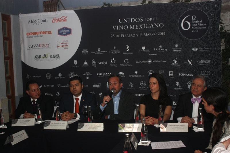 Presentación del sexto Festival 100 Vinos Mexicanos