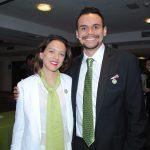 Natalia del Moral, directora de mercadotecnia, zona América de Yves Rocher, y Jorge Gómez, director comercial de Yves Rocher México. Revista Protocolo Copyright©